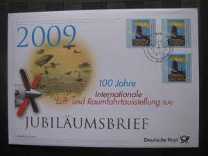 Jubiläumsbrief Deutsche Post: 100 Jahre Internationale Luft- und Raumfahrtausstellung (ILA), 2009