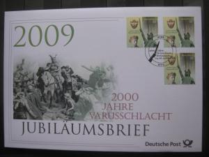 Jubiläumsbrief Deutsche Post: 2000 Jahre Varusschlacht, 2009