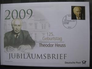 Jubiläumsbrief Deutsche Post: 125. Geburtstag Theodor Heuss