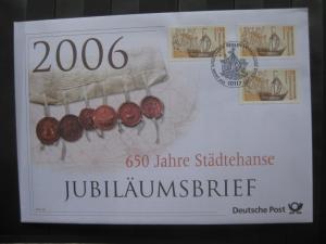 Jubiläumsbrief Deutsche Post: 650 Jahre Städtehanse, 2006