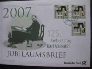 Jubiläumsbrief Deutsche Post: 125. Geburtstag Karl Valentin