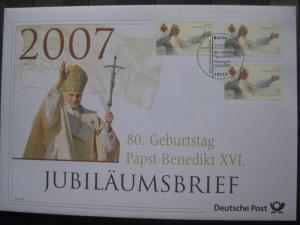 Jubiläumsbrief Deutsche Post: 80. Geburtstag Papst Benedikt XVI., 2007