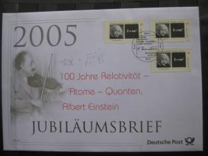 Jubiläumsbrief Deutsche Post: Albert Einstein, 2005