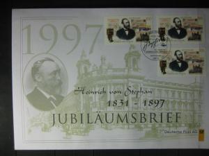 Jubiläumsbrief Deutsche Post: Heinrich von Stephan