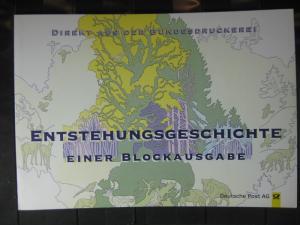 Sonderblatt der Deutsche POST und der Bundesdruckerei zur Entstehungsgeschichte eines Blockes