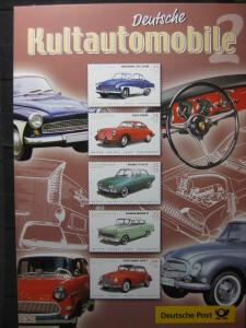 Gedenkblatt  Erinnerungsblatt der Deutsche Post: Deutsche Kultautomobile 2, 2003