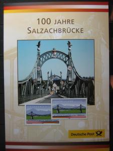 Gedenkblatt  Erinnerungsblatt der Deutsche Post: 100 Jahre Salzachbrücke, 2003