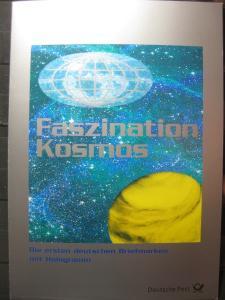 Gedenkblatt  Erinnerungsblatt der Deutsche Post: Faszination Kosmos, 1999
