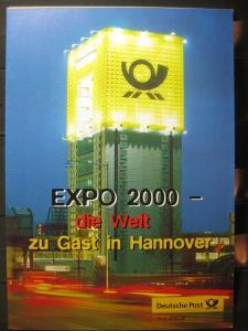 Gedenkblatt  Erinnerungsblatt der Deutsche Post: EXPO 2000