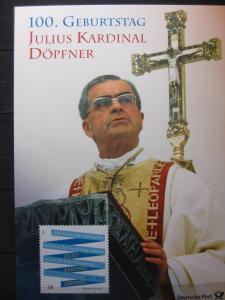 Gedenkblatt  Erinnerungsblatt der Deutsche Post: 100. Geburtstag Julius Kardinal Döpfner, 2013