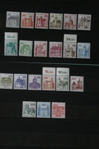 Berlin, Freimarkenserie, Dauermarkensatz 1977-1982: Burgen und Schlösser, komplette Serie