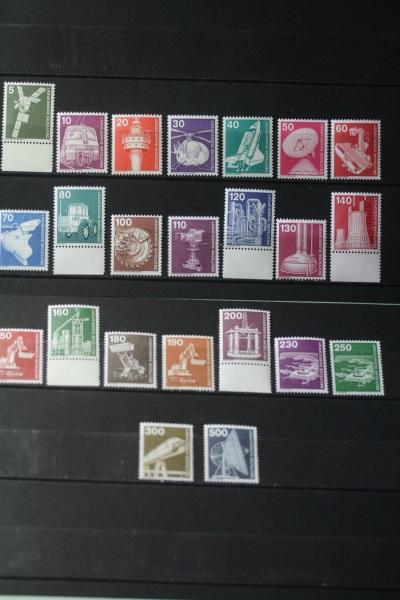 Freimarken, Dauerserie Deutschland: Industrie & Technik, 23 Werte, komplette Serie