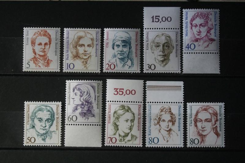 Freimarken, Dauerserie Deutschland: 1986-1998: Frauen der deutschen Geschichte (Komplette Serie in DM-Währung; 31 Werte