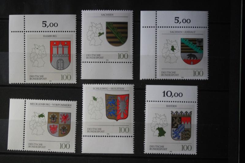 Wappen der Länder der Bundesrepublik Deutschland; komplette Serie : 16 + 1 Werte