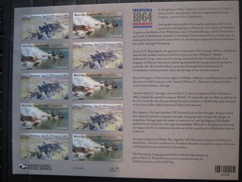 USA, Kleinbogen: The Civil War 1864; 2014 1