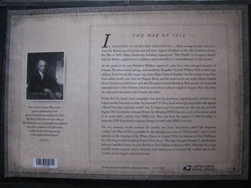 USA, Kleinbogen: The War of 1812, USS Constitution, 2012 1