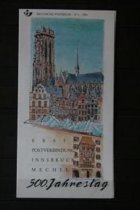 Belgien, 500 Jahre Post; Innsbruck-Mecheln