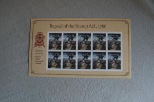 USA, Kleinbogen: Repeal of the Stamp Act, 1766;  2016