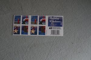 USA, Markenheft, Folienblatt: Holiday Windows 2016