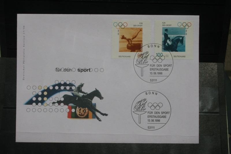 Ersttagsbrief Künstler- Ersttagsbrief FDC der Deutsche Postphilatelie: Für den Sport 1996