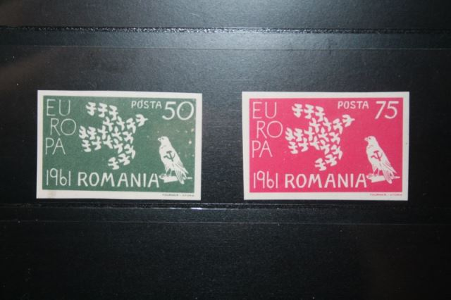 Rumänien CEPT EUROPA-UNION 1961, Propagandaausgabe, Vignette, ungezähnt, geschnitten