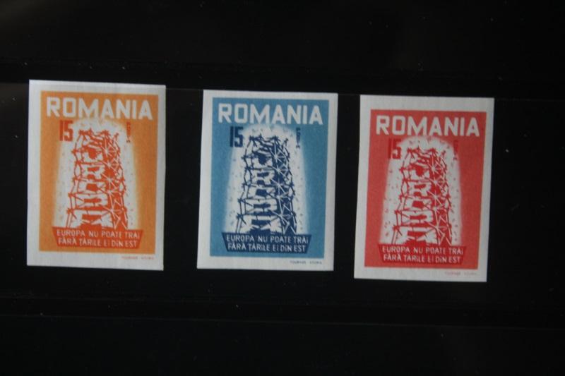 Rumänien CEPT EUROPA-UNION 1956, Propagandaausgabe, Vignette, ungezähnt, geschnitten