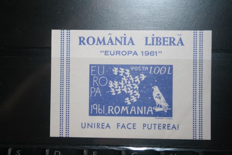 Rumänien CEPT EUROPA-UNION 1961, Propagandablockausgabe 1961, Vignette, ungezähnt, geschnitten