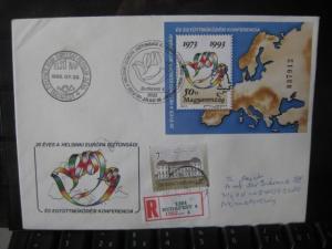 Ungarn, KSZE-Block 1993 auf FDC, als E-Brief befördert