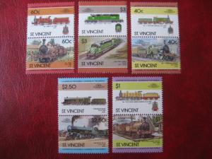 St. Vincent, Eisenbahn; 10 Werte = 5 ZD