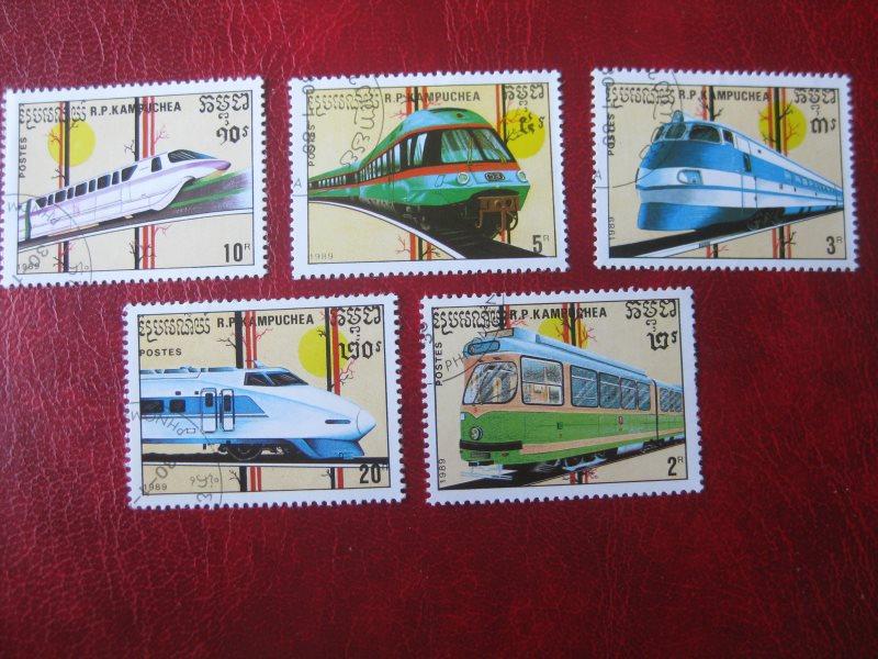 Kampuchea; Eisenbahn; 5 Werte