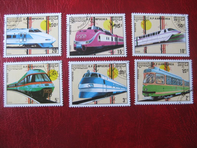 Kampuchea; Eisenbahn; 6 Werte