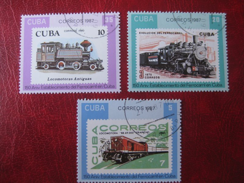 Cuba; Eisenbahn; 3 Werte