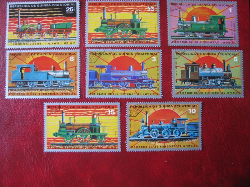 Äquatorial Guinea; Eisenbahn; 8 Werte