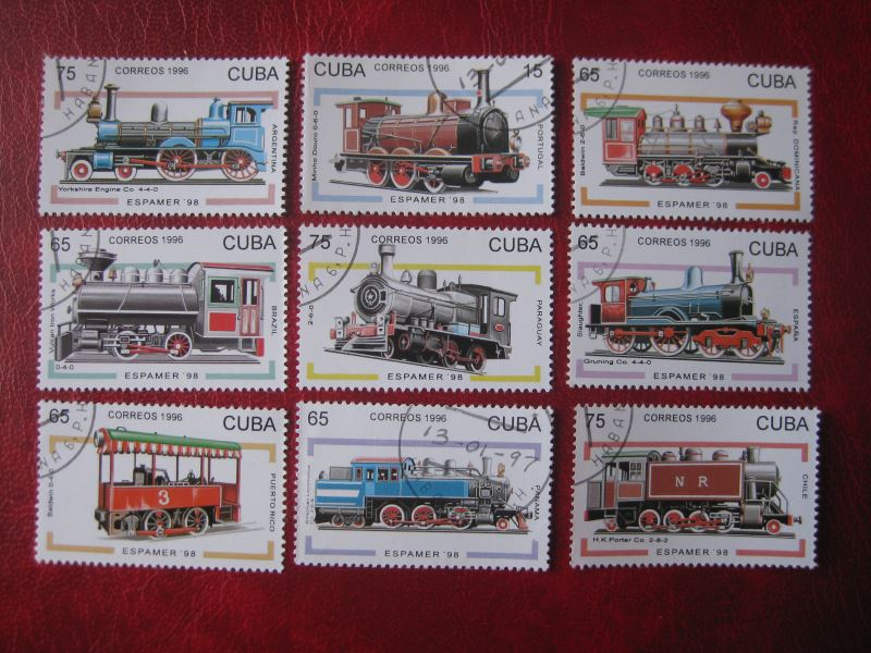 Cuba; Eisenbahn; 9 Werte