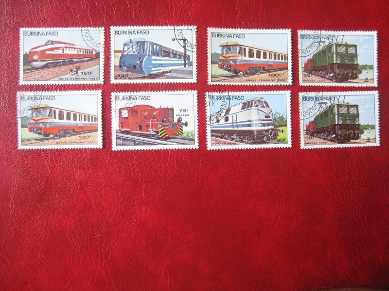 Burkina Faso; Eisenbahn; 8 Werte