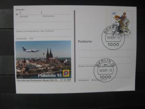 Sonderpostkarte PSo Philatelia 91 Köln