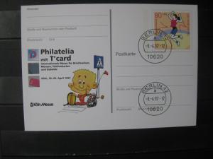 Sonderpostkarte PSo Philatelia 97 Köln