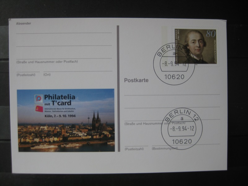 Sonderpostkarte PSo Philatelia 94 Köln