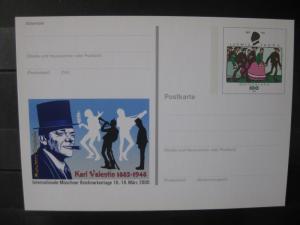 Sonderpostkarte PSo Internationale Münchner Briefmarkentage 2000; Karl Valentin