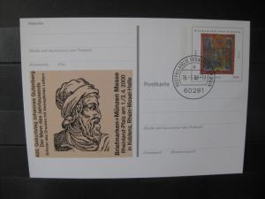 Sonderpostkarte PSo Briefmarken + Münzen Messe 2000 in Koblenz