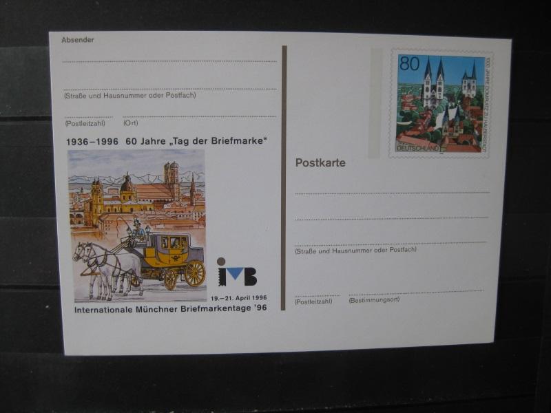 Ganzsache 50 Jahre Deutsche Mark D-Mark, Internationale Münchner Briefmarkentage 1996