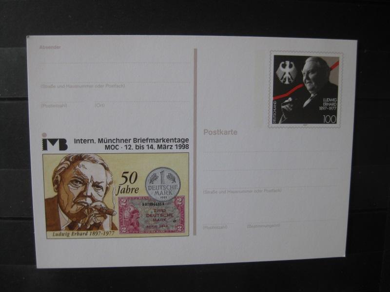 Sonderpostkarte PSo Internationale Münchner Briefmarkentage 1998