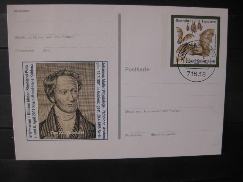 Sonderpostkarte PSo Briefmarken + Münzenmesse 2001 Koblenz
