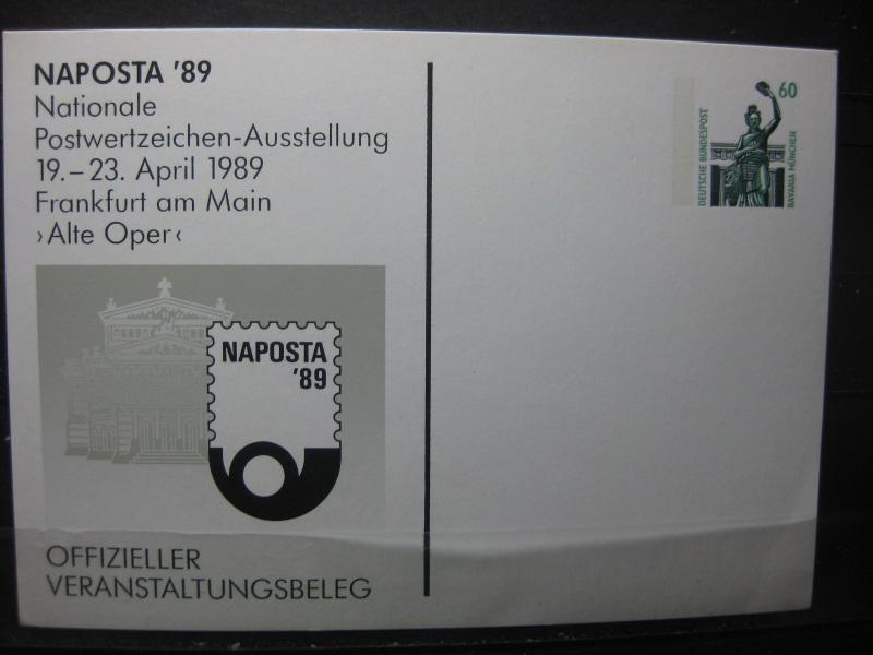 Sonderpostkarte NAPOSTA 89 Frankfurt/M.