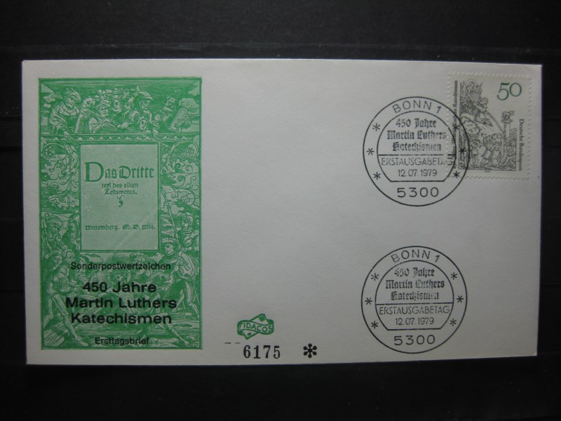 450 Jahre Luther Katechismen 1979, FDC