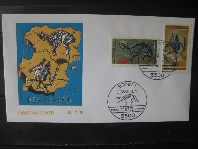 Fossilien 1978 Ersttagsbrief
