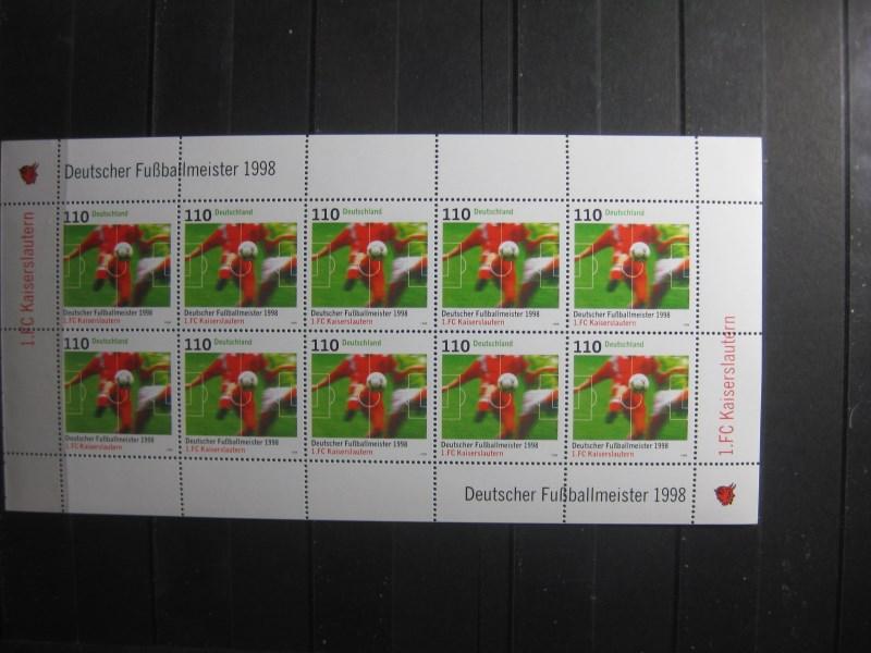 Deutscher Fußballmeister 1998 1. FC Kaiserslautern; 10er-Bogen