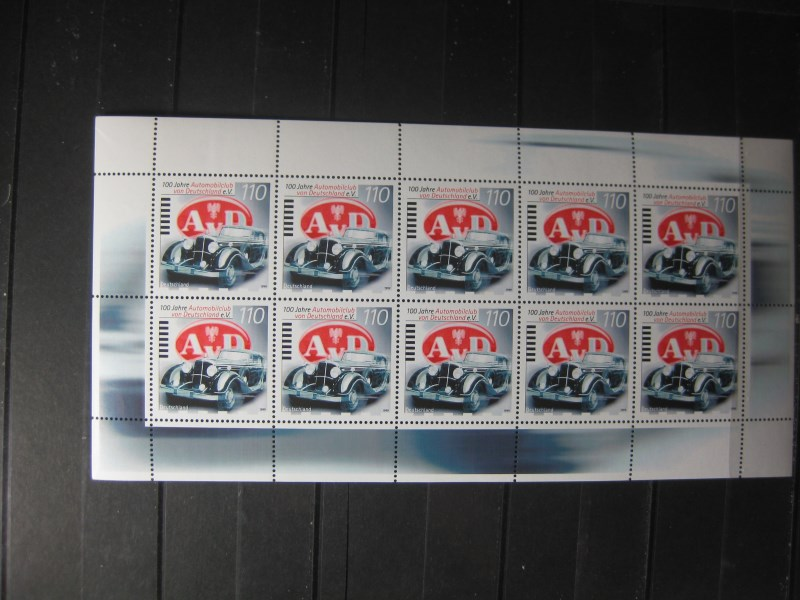 100 Jahre Automobilclub von Deutschland; 1999; 10er-Bogen