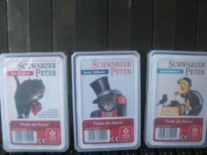 Quartett, Kartenspiel Schwarzer Peter; 3 verschiedene Spiele, neu, eingeschweißt, in OVP