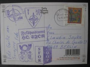 Bundeswehr; Deutschland; Feldpost 1998; Feldpostamt HQ SFOR